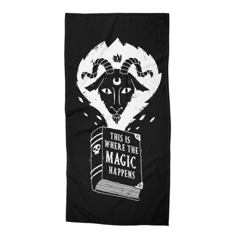 This Where The Magic Happens Accessories Beach Towel by DinoMike's Artist Shop