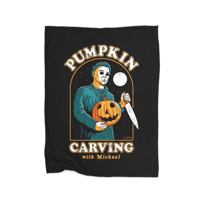 Carving With Michael Home Blanket by DinoMike's Artist Shop