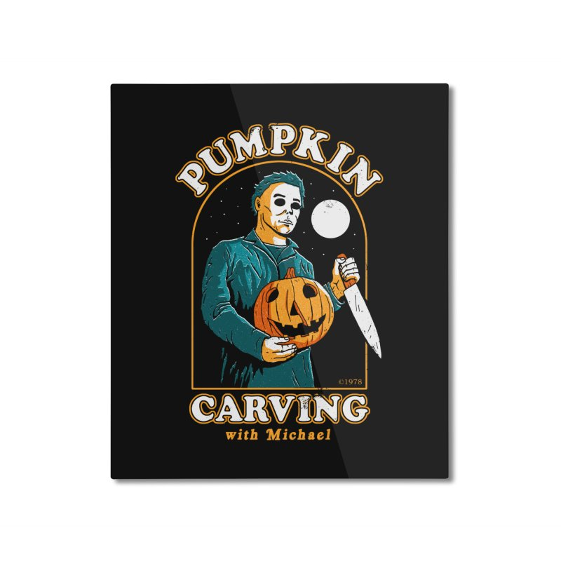 Carving With Michael Home Mounted Aluminum Print by DinoMike's Artist Shop