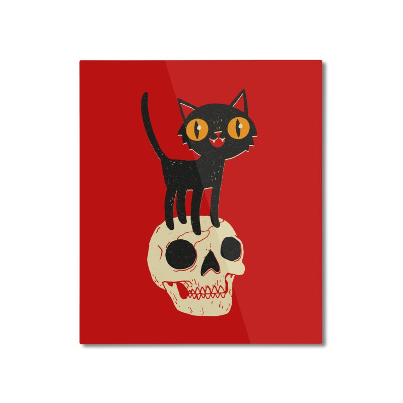 Look What The Cat Dragged In Home Mounted Aluminum Print by DinoMike's Artist Shop