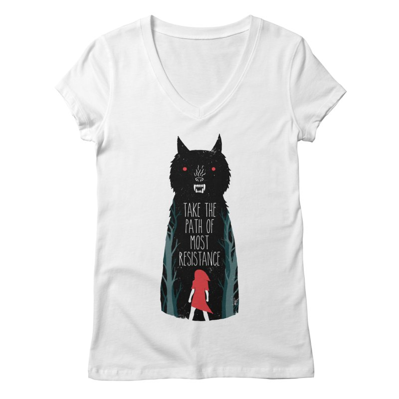 Red Resisting Women's V-Neck by DinoMike's Artist Shop
