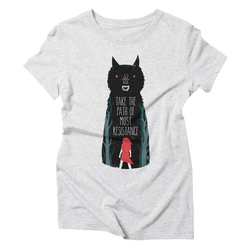 Red Resisting Women's T-Shirt by DinoMike's Artist Shop