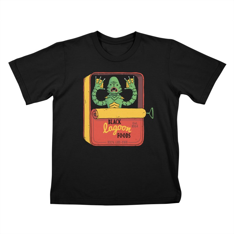 Tinned Creature Kids T-Shirt by DinoMike's Artist Shop