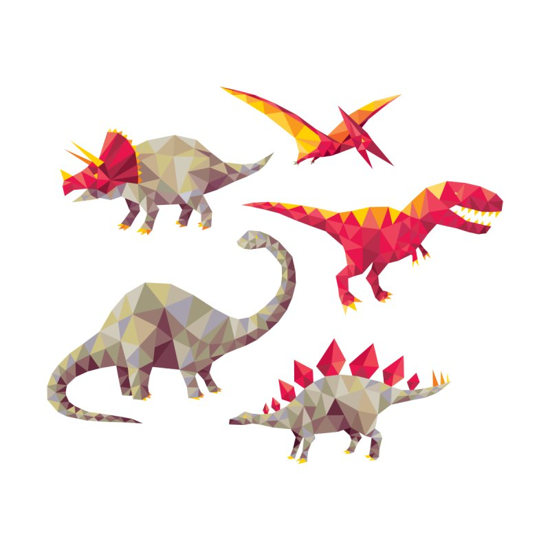 Geo Saurs None  by DinoMike's Artist Shop