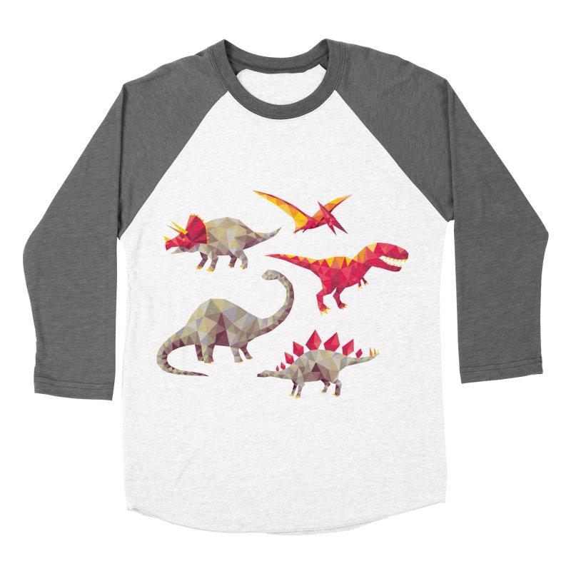 Geo Saurs Women's Longsleeve T-Shirt by DinoMike's Artist Shop