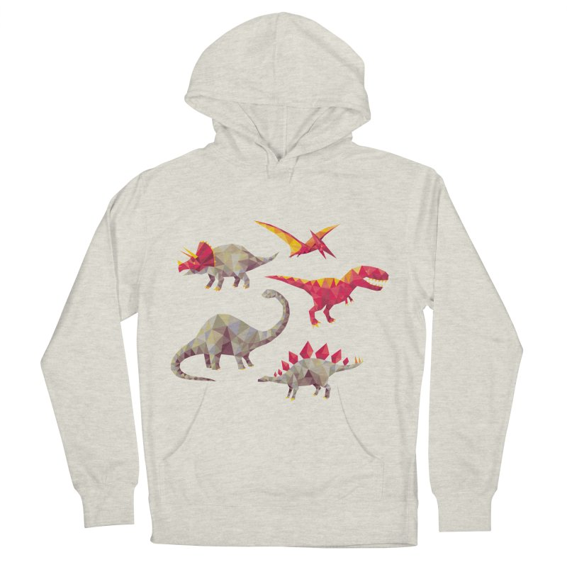 Geo Saurs Men's French Terry Pullover Hoody by DinoMike's Artist Shop