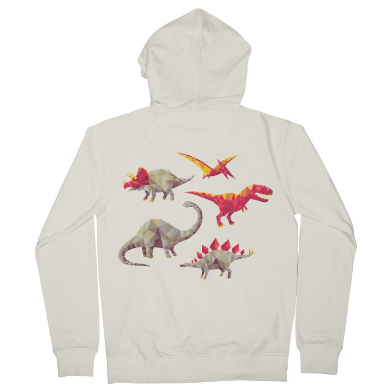 Geo Saurs Men's French Terry Zip-Up Hoody by DinoMike's Artist Shop