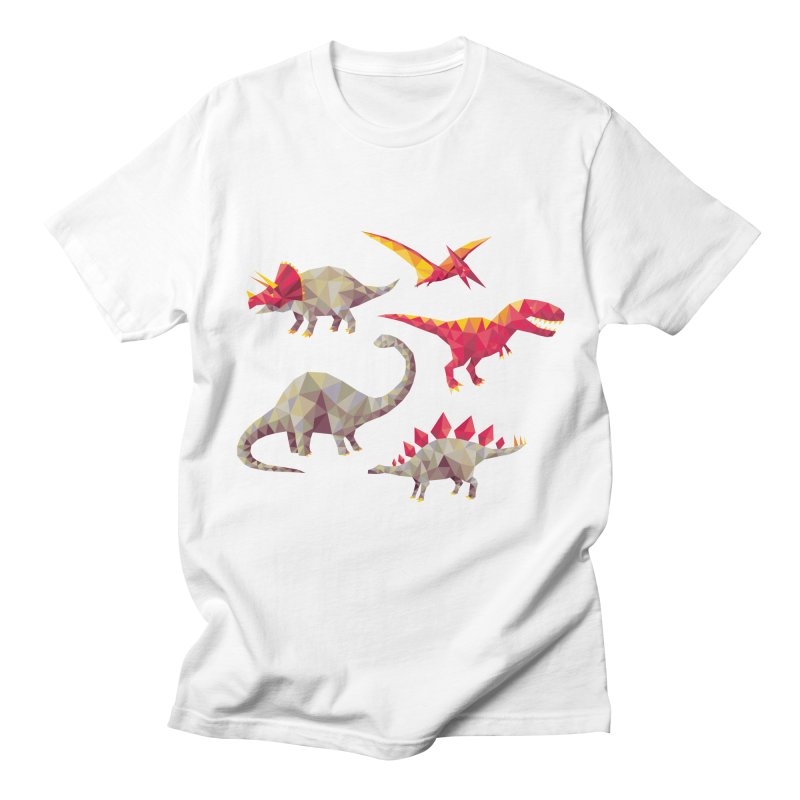 Geo Saurs Men's Regular T-Shirt by DinoMike's Artist Shop