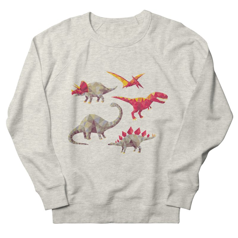Geo Saurs Men's French Terry Sweatshirt by DinoMike's Artist Shop