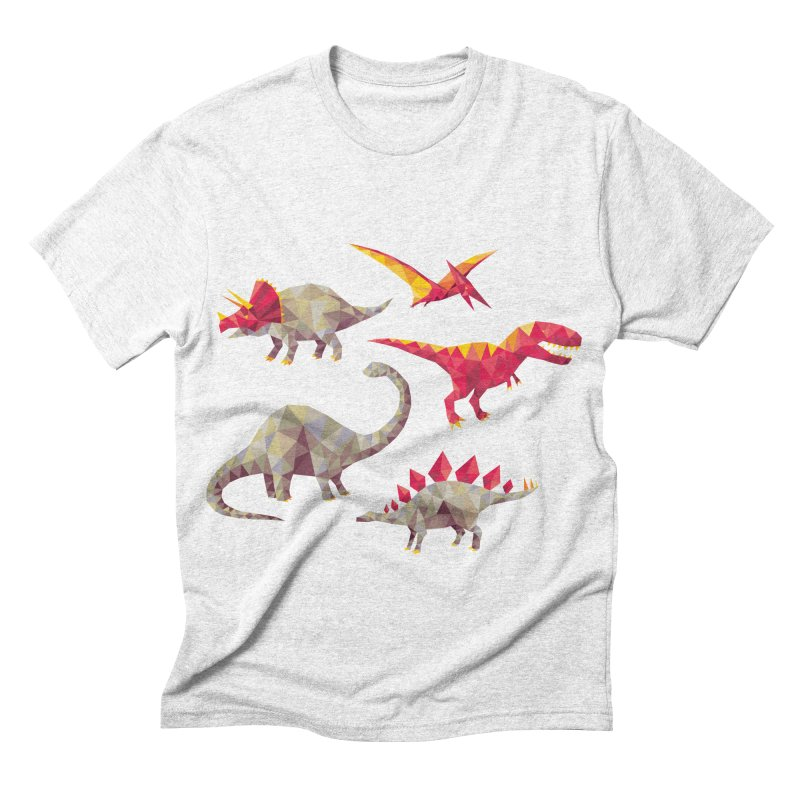 Geo Saurs Men's Triblend T-shirt by DinoMike's Artist Shop