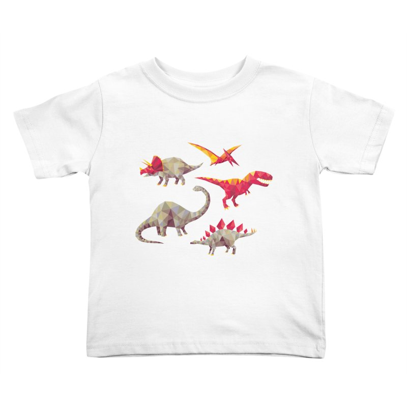 Geo Saurs Kids Toddler T-Shirt by DinoMike's Artist Shop