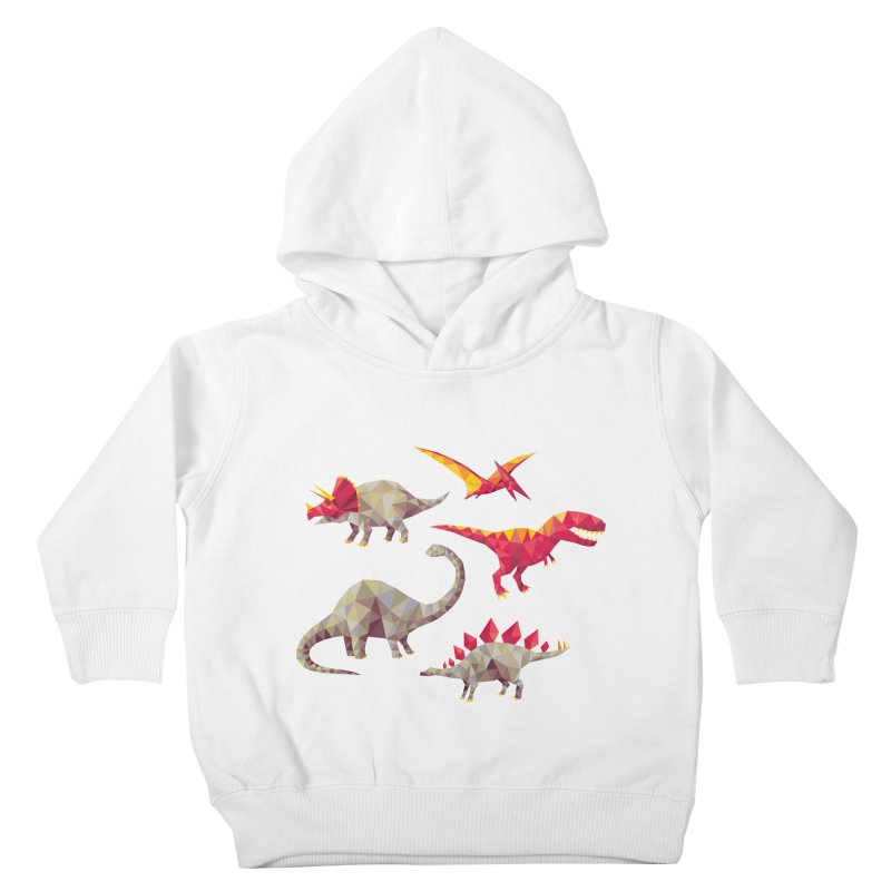 Geo Saurs Kids Toddler Pullover Hoody by DinoMike's Artist Shop