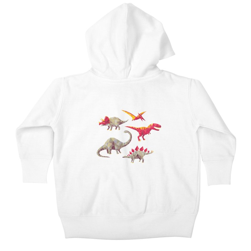 Geo Saurs Kids Baby Zip-Up Hoody by DinoMike's Artist Shop