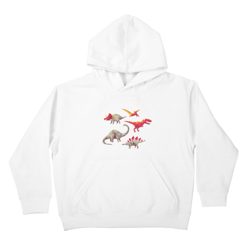 Geo Saurs Kids Pullover Hoody by DinoMike's Artist Shop