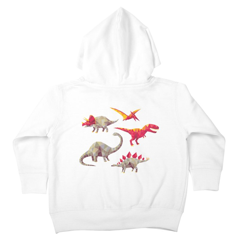 Geo Saurs Kids Toddler Zip-Up Hoody by DinoMike's Artist Shop