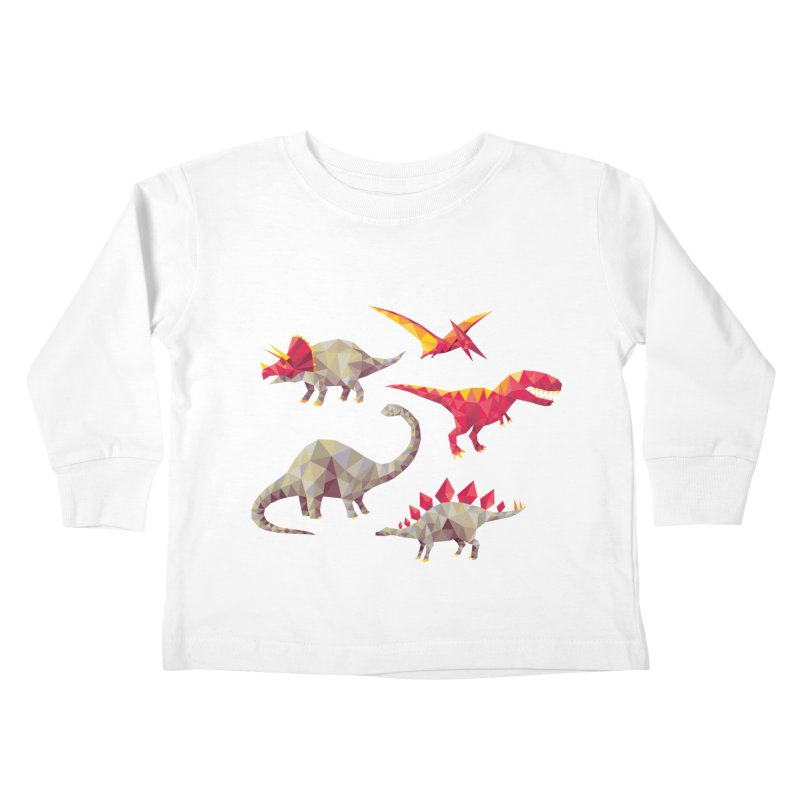 Geo Saurs Kids Toddler Longsleeve T-Shirt by DinoMike's Artist Shop