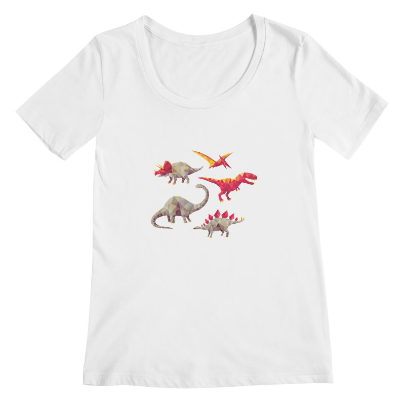 Geo Saurs Women's Scoopneck by DinoMike's Artist Shop