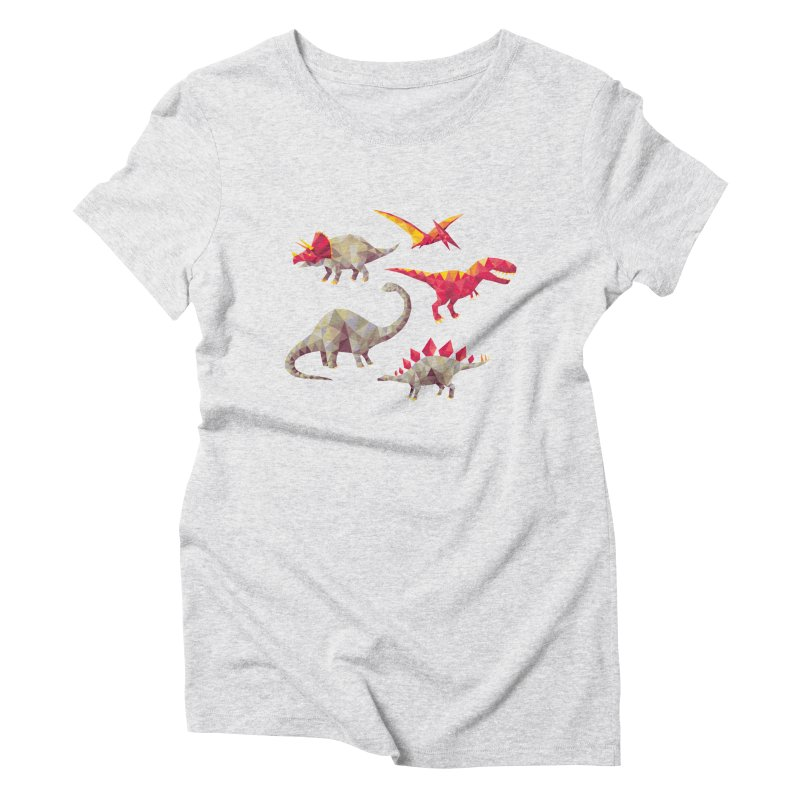 Geo Saurs Women's Triblend T-Shirt by DinoMike's Artist Shop