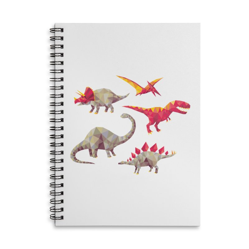 Geo Saurs Accessories Lined Spiral Notebook by DinoMike's Artist Shop