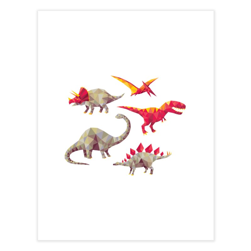 Geo Saurs Home Fine Art Print by DinoMike's Artist Shop