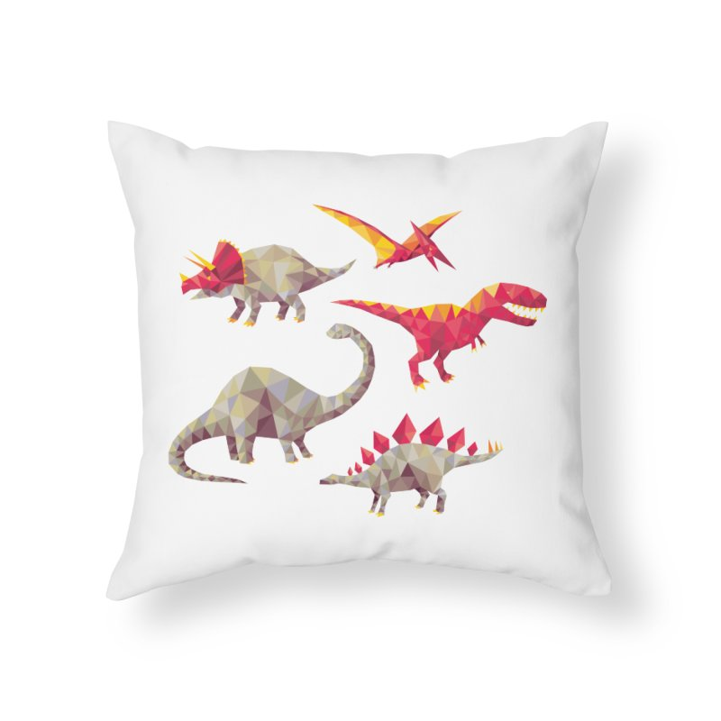 Geo Saurs Home Throw Pillow by DinoMike's Artist Shop