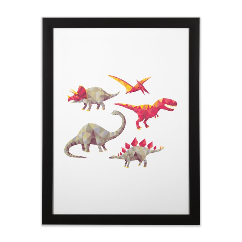 Geo Saurs Home Framed Fine Art Print by DinoMike's Artist Shop