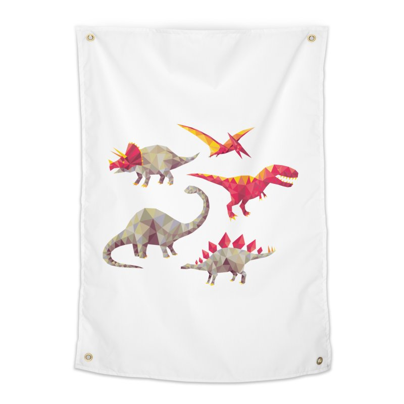 Geo Saurs Home Tapestry by DinoMike's Artist Shop
