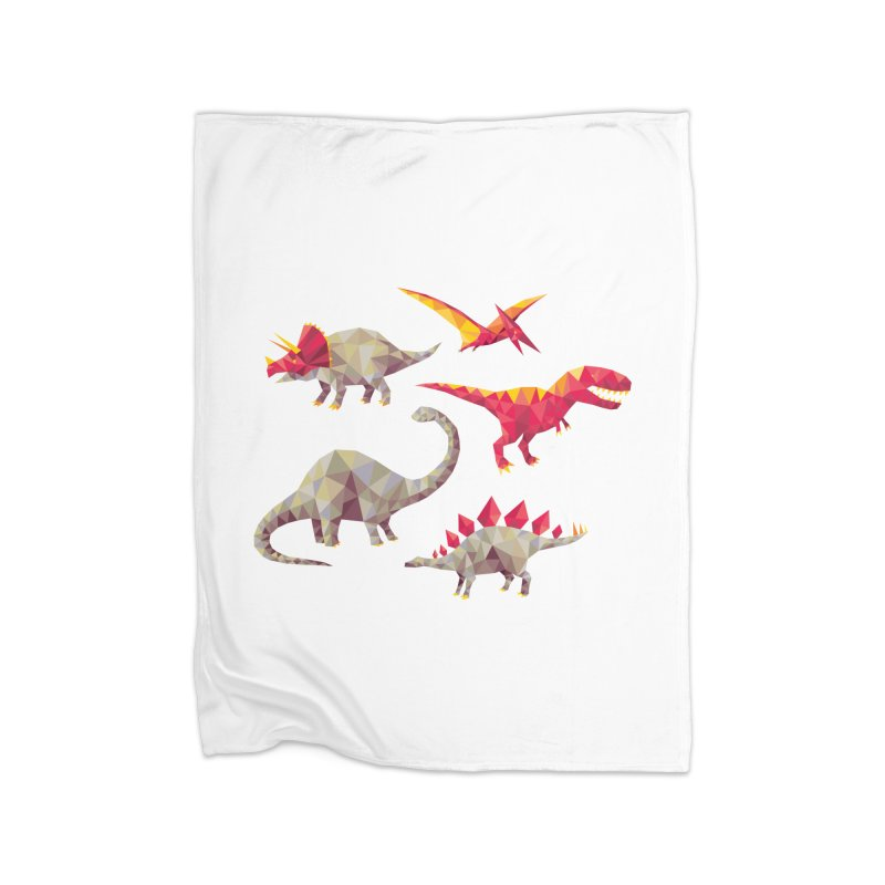 Geo Saurs Home Fleece Blanket Blanket by DinoMike's Artist Shop