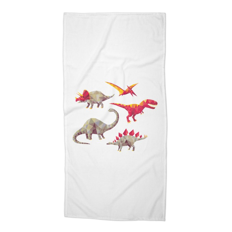 Geo Saurs Accessories Beach Towel by DinoMike's Artist Shop