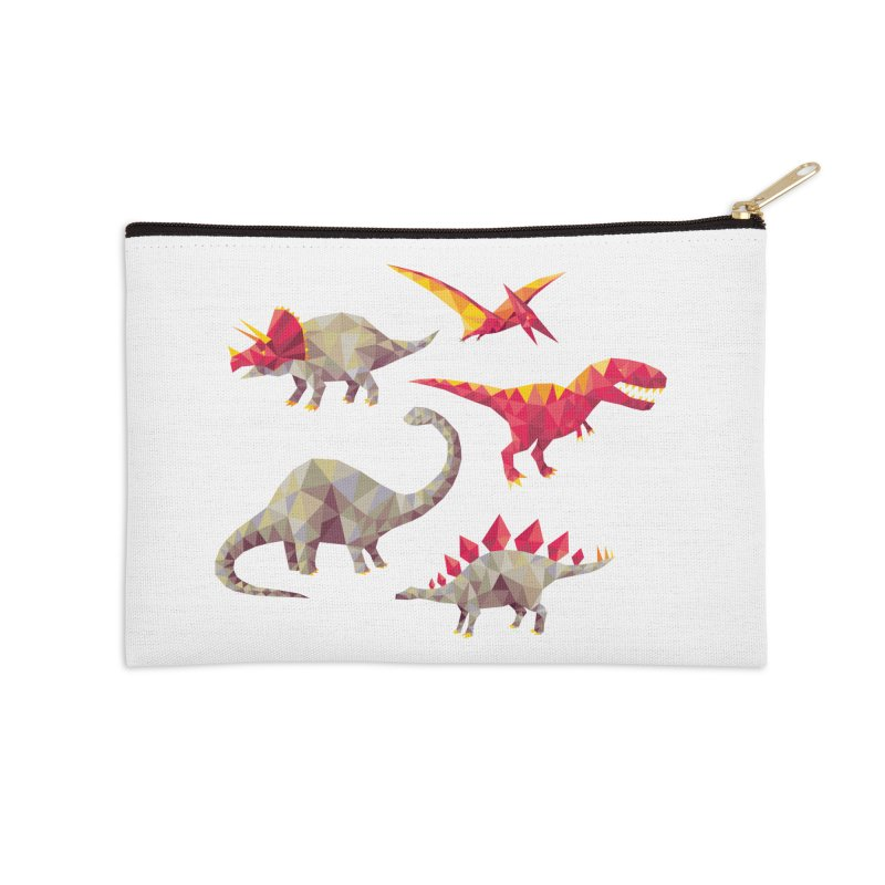 Geo Saurs Accessories Zip Pouch by DinoMike's Artist Shop