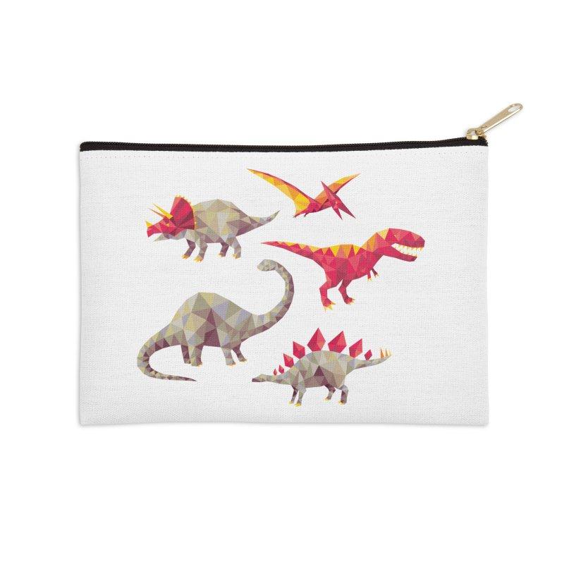 Geo Saurs Accessories Zip Pouch by DinoMike's Artist Shop