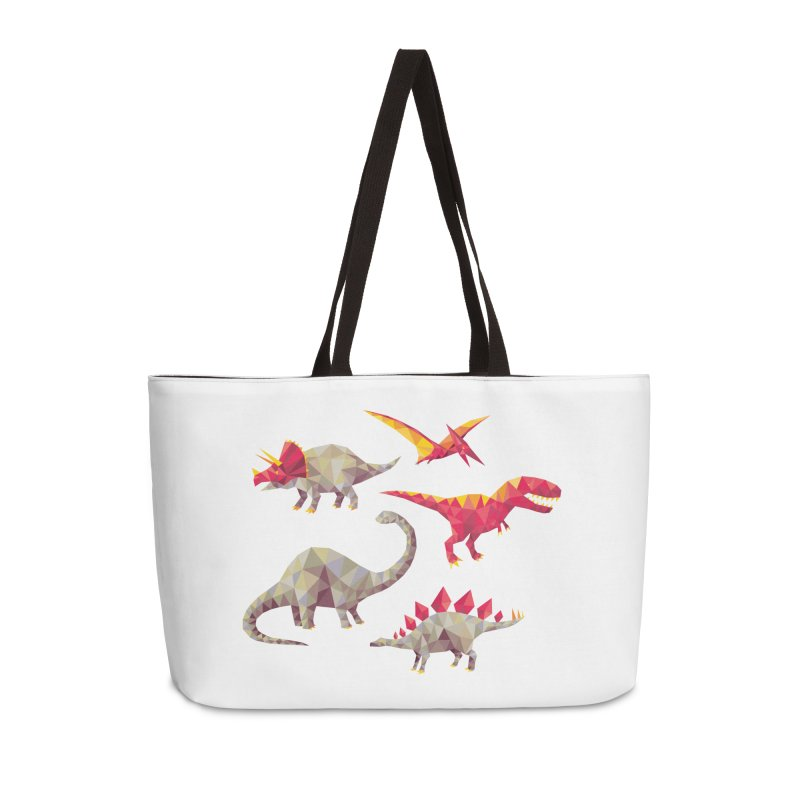 Geo Saurs Accessories Weekender Bag Bag by DinoMike's Artist Shop