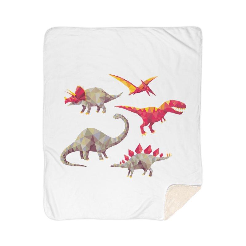 Geo Saurs Home Sherpa Blanket Blanket by DinoMike's Artist Shop