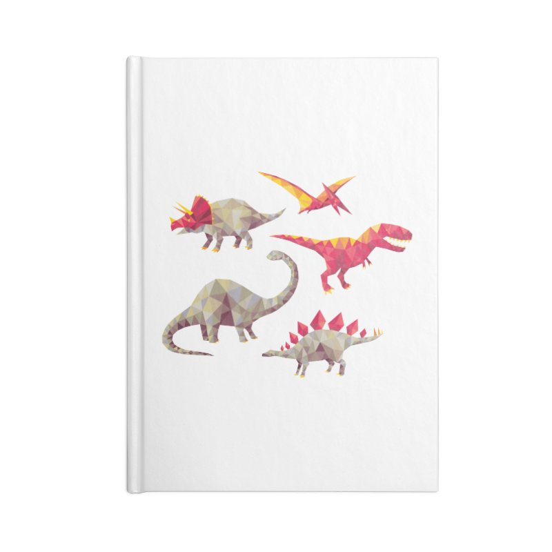 Geo Saurs Accessories Lined Journal Notebook by DinoMike's Artist Shop