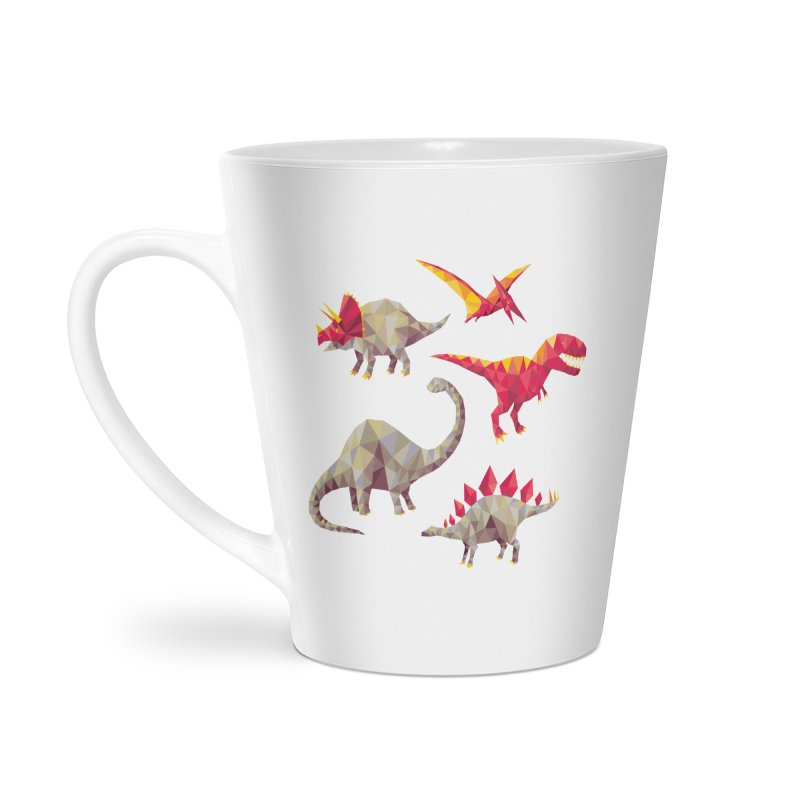 Geo Saurs Accessories Latte Mug by DinoMike's Artist Shop