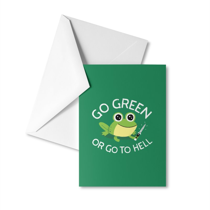 Go Green Accessories Greeting Card by DinoMike's Artist Shop