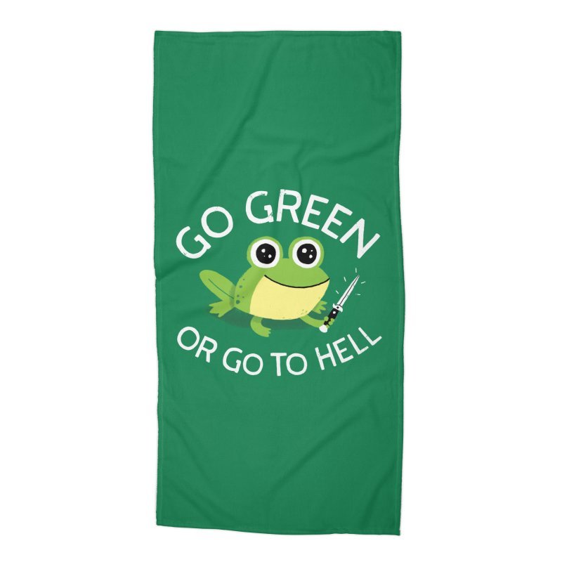 Go Green Accessories Beach Towel by DinoMike's Artist Shop
