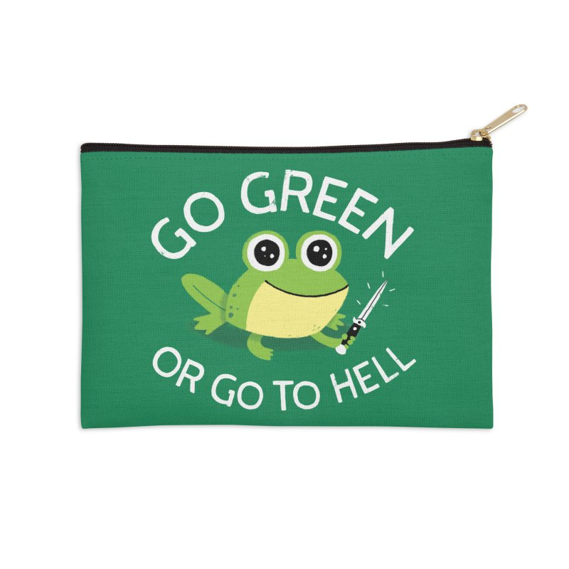 Go Green Accessories Zip Pouch by DinoMike's Artist Shop