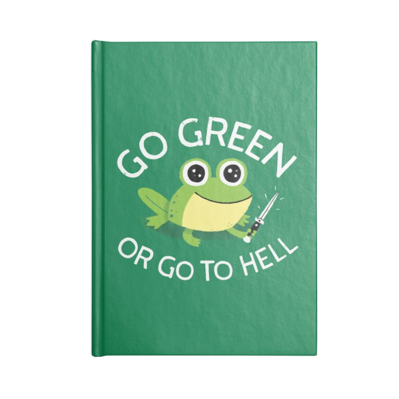 Go Green Accessories Notebook by DinoMike's Artist Shop
