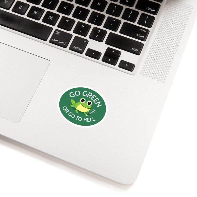 Go Green Accessories Sticker by DinoMike's Artist Shop