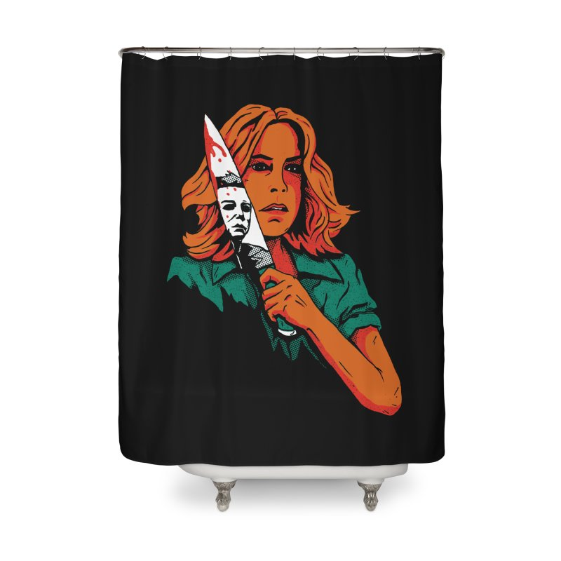 Laurie Home Shower Curtain by DinoMike's Artist Shop