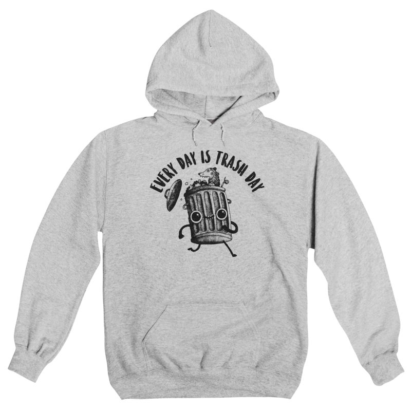 Trash Day Women's Pullover Hoody by DinoMike's Artist Shop