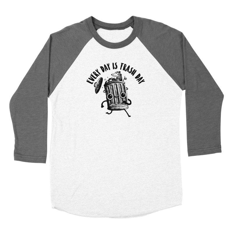 Trash Day Women's Longsleeve T-Shirt by DinoMike's Artist Shop