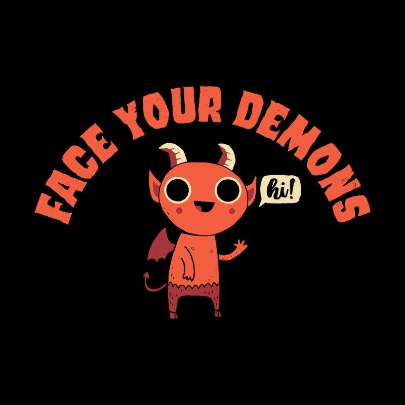 Face Your Demons Women's Sweatshirt by DinoMike's Artist Shop