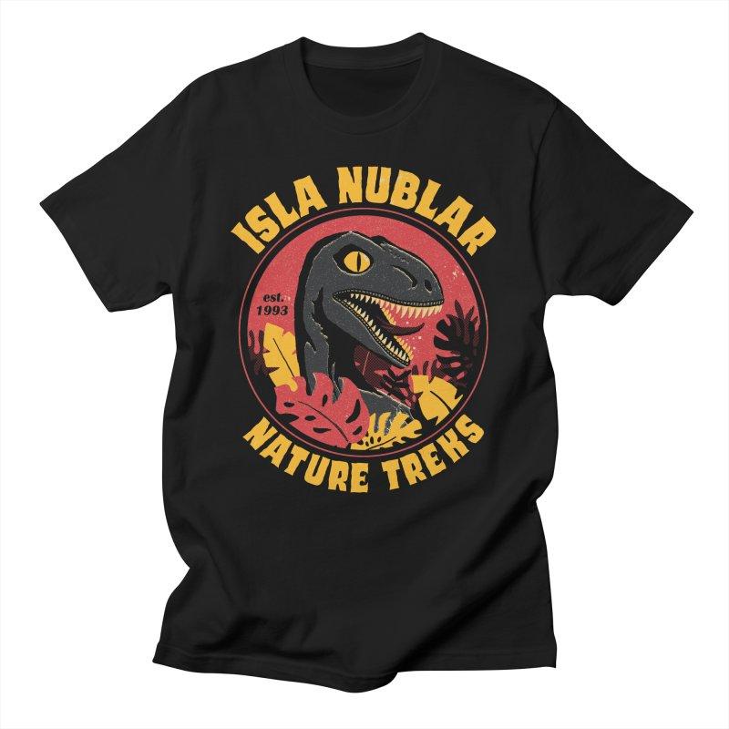 Isla Nublar Nature Treks Men's T-Shirt by DinoMike's Artist Shop
