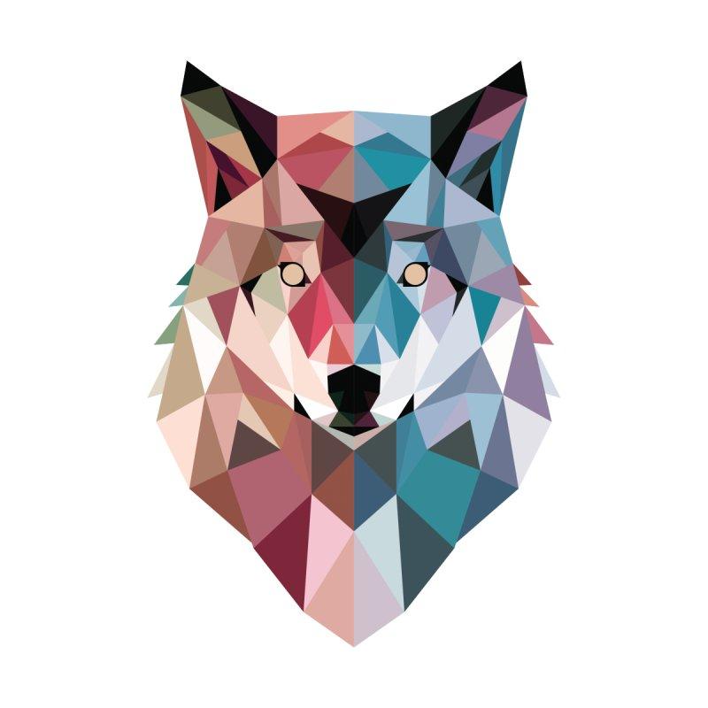 Geo Wolf Women's T-Shirt by DinoMike's Artist Shop