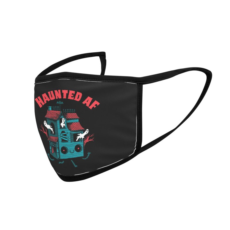 Haunted AF Accessories Face Mask by DinoMike's Artist Shop