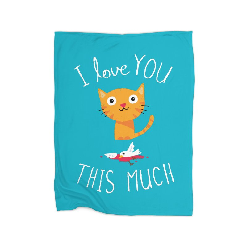 I Love You This Much Home Fleece Blanket Blanket by DinoMike's Artist Shop