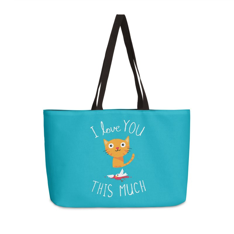 I Love You This Much Accessories Weekender Bag Bag by DinoMike's Artist Shop