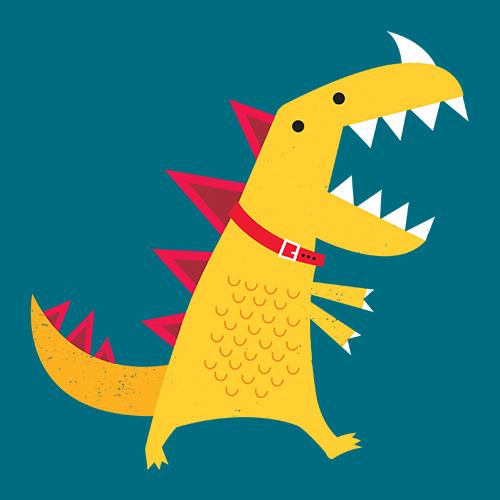 DinoMike's Artist Shop Logo